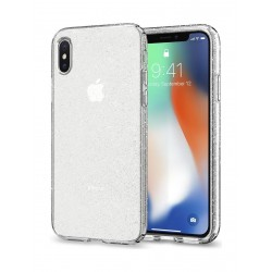 Spigen Liquid Crystal Case For iPhone 10  - Clear Glitter