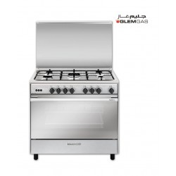 Glem Gas 90x60 cm 5-Burner Floor Standing Gas Cooker (SE967GIFS) - Stainless