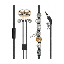 Promate Vogue-2 Wearable Wristband Style Wired Stereo Earphone - Black