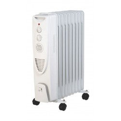 Wansa 9 Fins Oil Heater 2000 Watt - White (AO-2003)