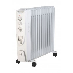 Wansa Oil Heater 13 Fins 2500 Watt - White - AO-2004
