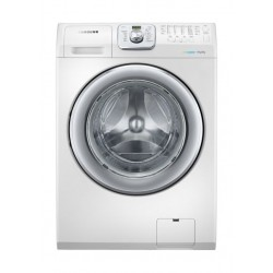Samsung 14 KG Front Load Washer Dryer With Eco Bubble Technology (WD14F5K3ACW) - White