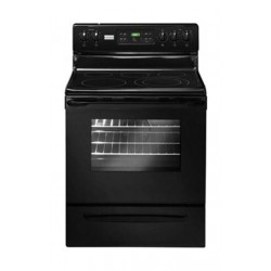 White Westinghouse 76X66 4 Burner Freestanding Electric Cooker (WMFF3036RS) - Black