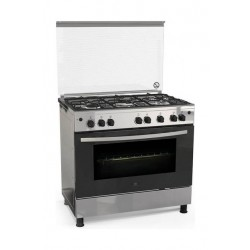 White Westinghouse 90X60 5 Burner Freestanding Gas Cooker (WNGB90JGUS) - Stainless Steel