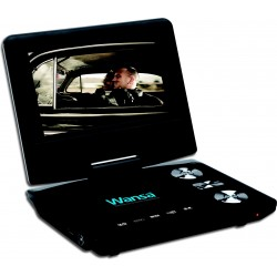 Wansa Portable DVD Widescreen Swivel PDVD-888-7 Inch-Black