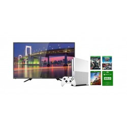 Wansa 32 inch HD LED TV + Xbox One S 1TB Console + 4 XBOX Games + 3 Months Live Card