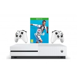 Xbox One S 1TB Console With 2 Controller + FIFA 19: Xbox One Game