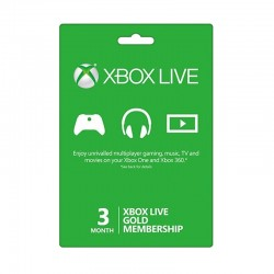 Xbox Live 3-Month Gold Membership Card (US Account) - OneCard