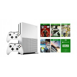 Xbox One S 1TB Console + 2 Controllers + 5 Xbox One Games