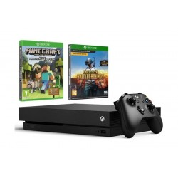 Xbox One X Standard Edition Console 1TB + Minecraft Favorite Edition + Playerunknown's Battlegrounds: Xbox One Game (CODE)