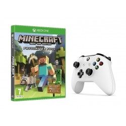 Xbox One S Wireless Controller + Minecraft Favorite Edition: Xbox One Game