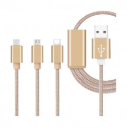 Xcell 3-IN-1 USB Cable - Gold