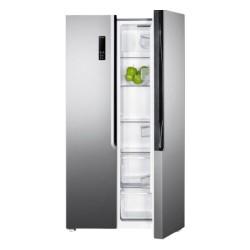 Wansa 18 Cft Side By Side Refrigerator (WRSG-563-NFIC82) - Inox