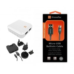 XtremeMac Travel Charger With Ballistic Micro-USB Cable