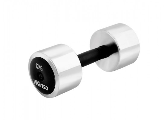 Wansa 12kg Training Dumbbell (DF002) - Silver