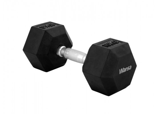 Wansa 15kg Training Dumbbell (DF018) - Black