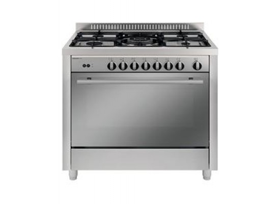 Glem Gas 5 Burners Free Standing Gas Cooker - Silver MX167GI/FS/MF