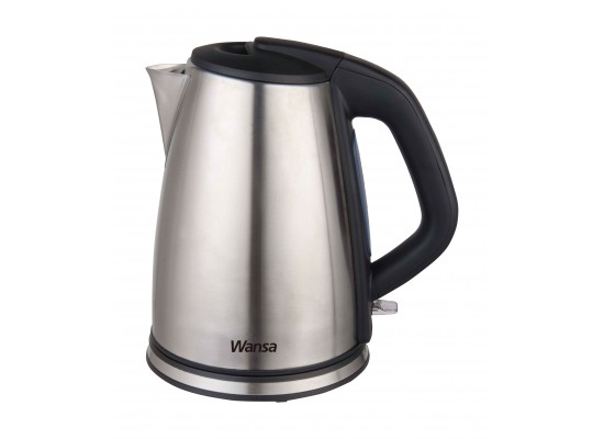 Wansa 2200W 1.7L Stainless Steel Kettle (KES-1802) – Black / Silver