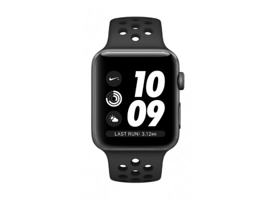 reputable site 83841 eb685 Apple Watch Nike+ Series 3 38mm Space Gray Aluminum Case, Anthracite Black  Nike Sport Band Smartwatch - MQKY2AE/A