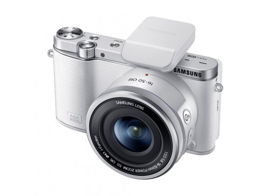 Samsung NX3000 Compact Mirrorless Digital Camera with 16-50mm Zoom Lens -  White 3000BMHSA