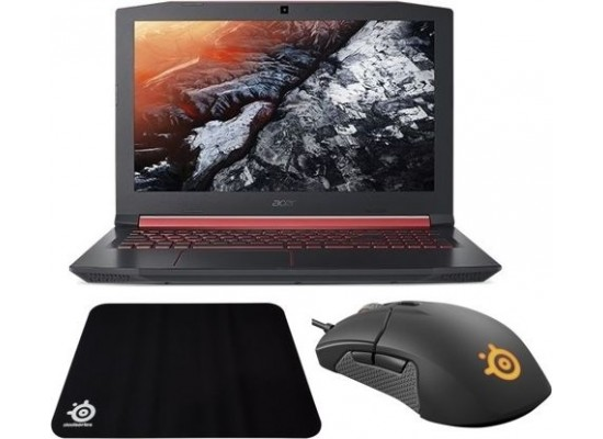 Acer Nitro 5 Core i7 4GB GTX 1050 16GB RAM 1TB HDD + 128GB SSD 15.6 inch Gaming Laptop + SteelSeries Sensei 310 Gaming Mouse + Mouse Pad