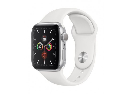 Apple Watch Series 5 GPS 40mm Silver Aluminium Case with White Sport Band