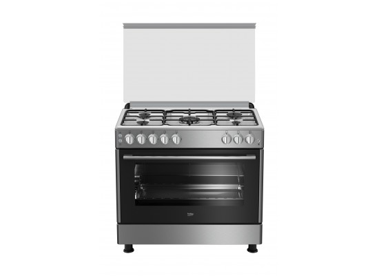 Beko 90x60 5 burner gas cooker (gg15120fx) price in Saudi Arabia