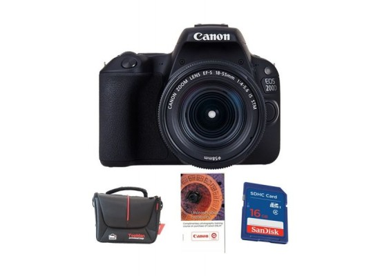 Canon EOS 200D 24 4MP Wi-Fi Digital Camera + EF-S 18-55 mm III Lens + 16GB  Memory Card + Voucher + Bag