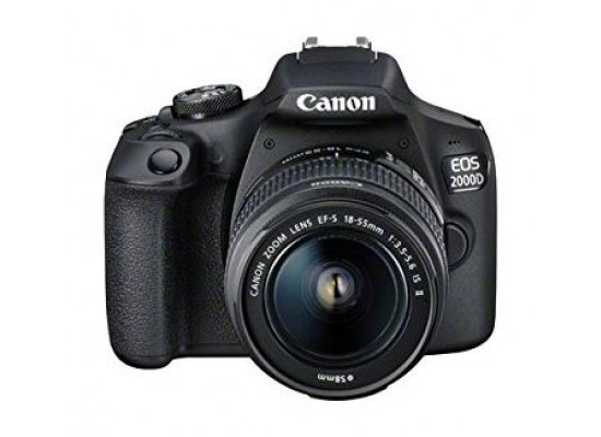 Canon EOS 2000D 24.1MP Wi-fi With 18-55 Lens IS II + Training Voucher  + Memory Card + Bag