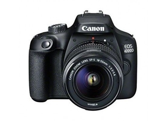 Canon EOS 4000D 18MP Wi-fi With 18-55 Lens DC + Training Voucher + Memory Card + Bag