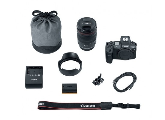 Canon EOS R Mirrorless Digital Camera with 24-105mm Lens + Mount Adapter EU26