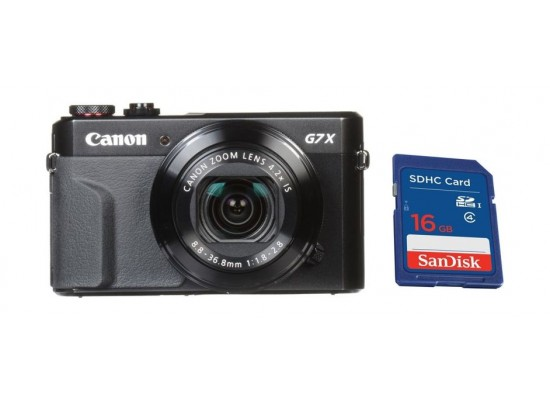 Canon PowerShot G7 X Mark II 20.1 MP 3.0-inch Touchscreen Display Digital Camera + 16GB Memory Card