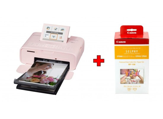Canon Selphy Cp1300 Compact Photo Printer Pink Canon Rp 108 High