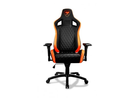 Magnificent Cougar Armor Gaming Chair Black And Orange Price In Saudi Machost Co Dining Chair Design Ideas Machostcouk