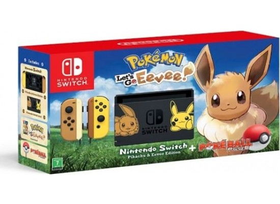 Nintendo Switch Let's Go Eevee Limited Edition Console Bundle