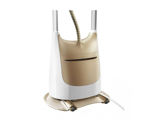 Philips ProTouch 2-in-1 Vertical Steamer with ErgoFit Board (GC618/66) – White / Gold