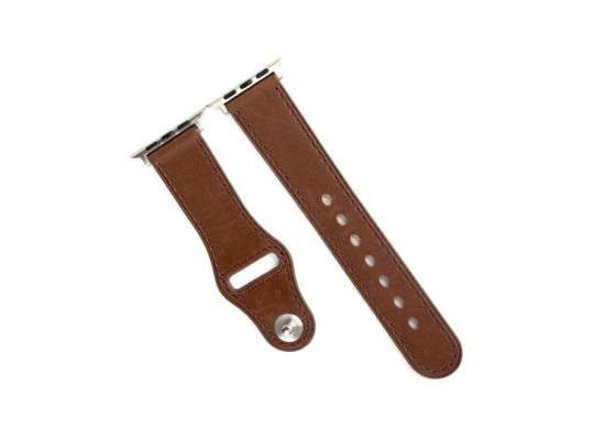 Promate Leather Strap For 42mm Apple Watch - Brown