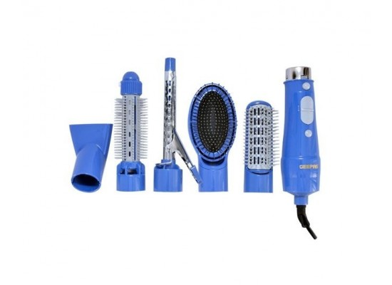 Geepas 6-in-1 Hair Styler with 5 Attachments (GH715)