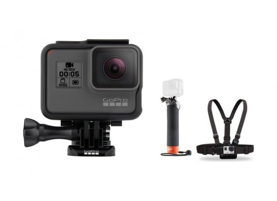 GoPro Hero 5 12MP 4K WiFi Touchscreen Action Camera + Chest Harness Mount + Floating Hand Grip Mount