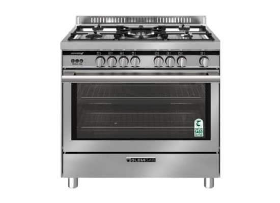 Glem gas cooker 90x60cm (st967gifsmf) - stainless steel price in