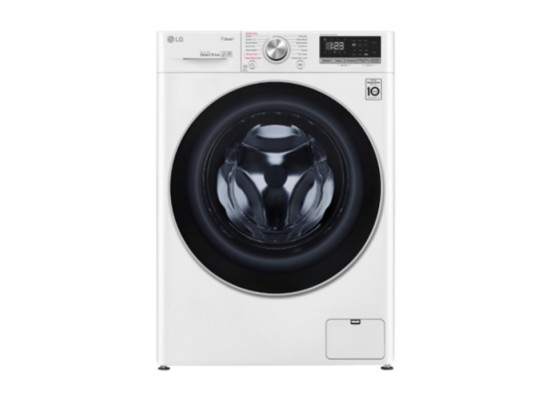 Lg front load washer 9kg 1400 rpm (wfv0914wh) - white price in