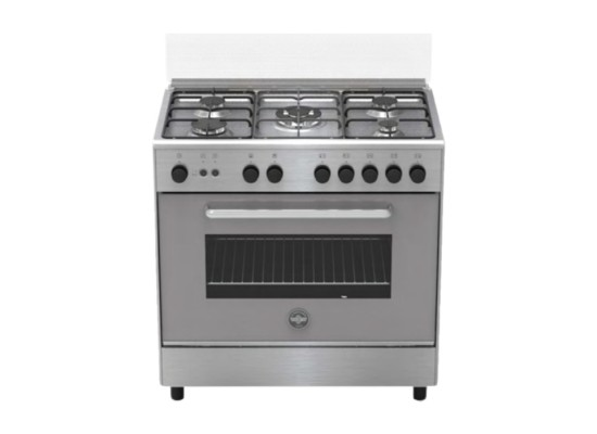 Lagermania Gas Cooker 80X50 cm (S85C31X) - Stainless Steel