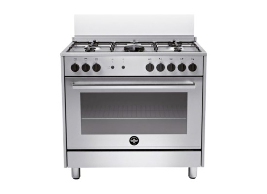 Lagermania Gas Cooker 90X60 cm (RIS95C31DX) - Stainless Steel
