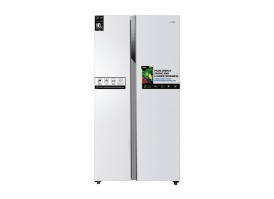 Haier 17.8 CFt. Side by Side Refrigerator (HRF-650WW) - White