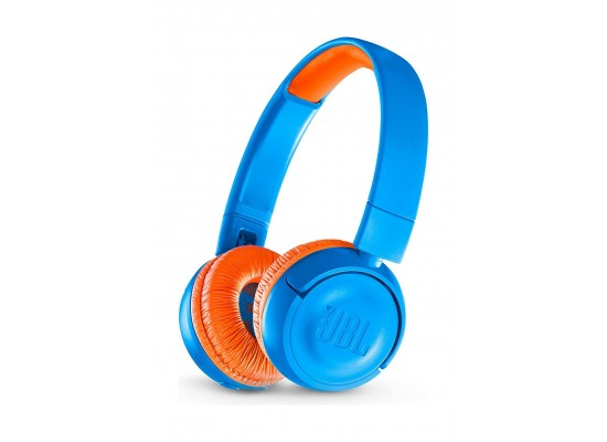 JBL Kids Bluetooth Wireless On-Ear Headphone (JBLJR300BT) - Blue