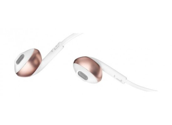 JBL T205 Wired Earphone With Microphone - Rose Gold