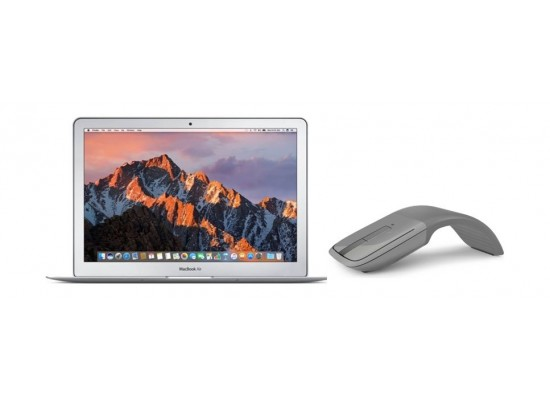 Apple Macbook Air Intel Core-i5 8GB RAM 256GB SSD 13.3-inch Laptop + Microsoft Arc Touch Wireless Mouse