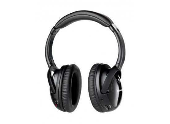 Meliconi HP 300 Wireless Stereo Headphone Black - Front View