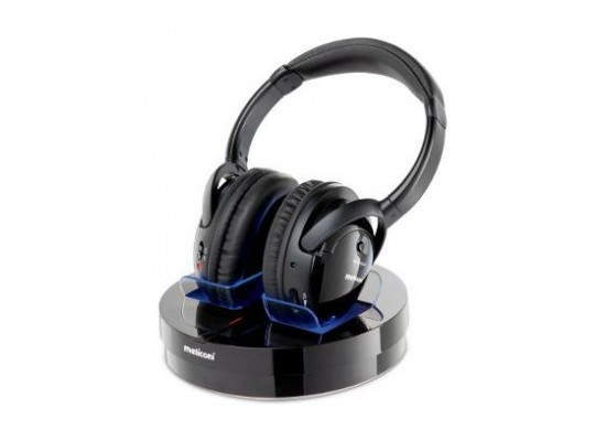 Meliconi HP 300 Wireless Stereo Headphone Black - Side View