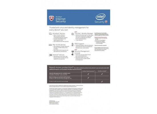 McAfee Internet Security for Unlimited Devices (MIS16UEC9RAO)